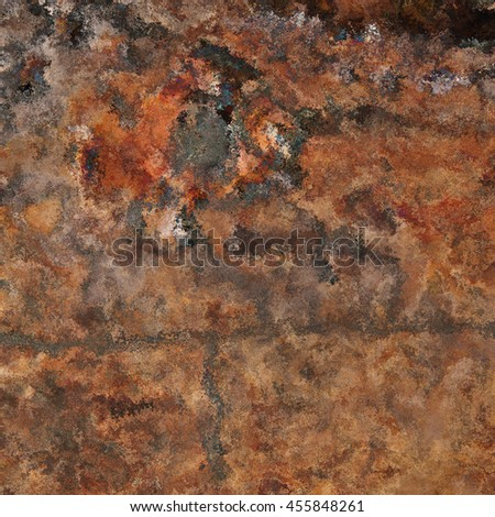 Rusty surface background with lots of stains