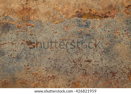 rusty surface metal iron steel can be used grunge rust background, pattern and texture - stock photo