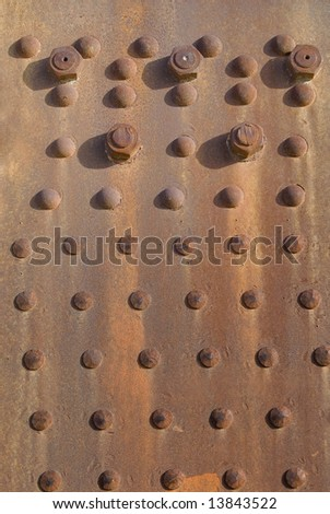 Rusty Surface with Bolts