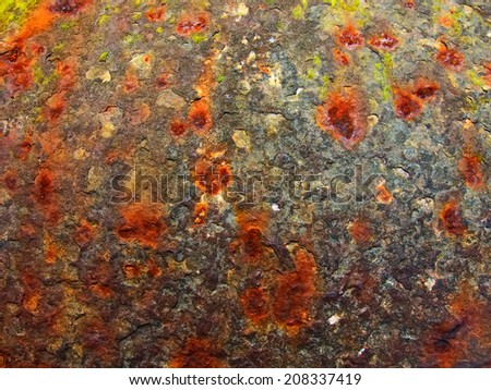 Rusty texture for backgrounds - stock photo