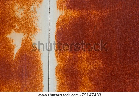 Rusty texture with line - stock photo