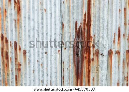 Rusty textured zinc background - stock photo