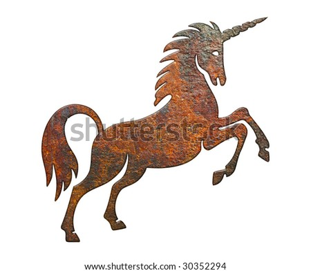 rusty unicorn - stock photo