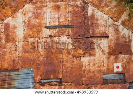 Rusty wall - background