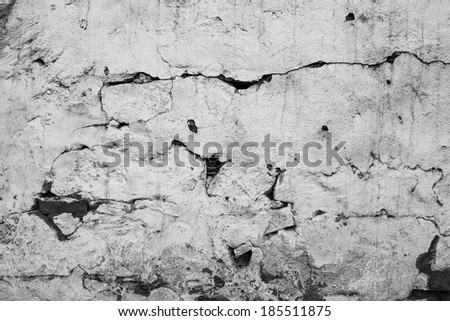 Rusty wall texture background with cracks  2 - stock photo