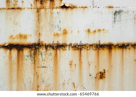 Rusty White Metal Texture - stock photo