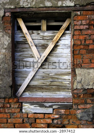 rusty window - stock photo