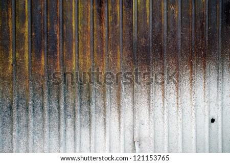 Rusty Zinc grunge background - stock photo