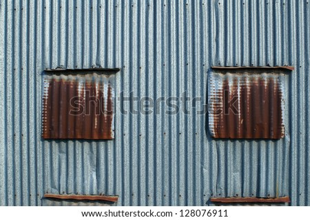 rusty zinc wall. - stock photo