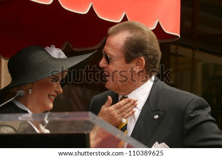 Ruta Lee and Roger Moore  at the ceremony honoring Roger Moore with the 2,350th Star on the Hollywood Walk of Fame. Hollywood Boulevard, Hollywood, CA. 10-11-07 - stock photo