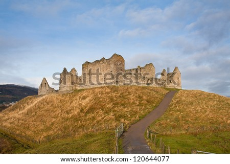 Ruthven Barracks, near Kingussie, Scotland.