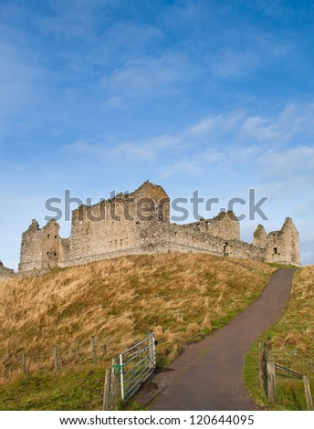 Ruthven Barracks, near Kingussie, Scotland. - stock photo