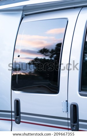 RV Vehicle Windows and Doors - stock photo
