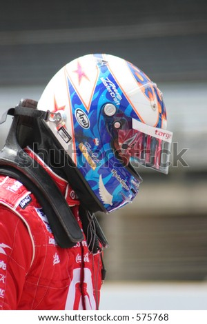 Ryan Briscoe, IRL Team Target, at Indianapolis 500 Race track.  Editorial use only.