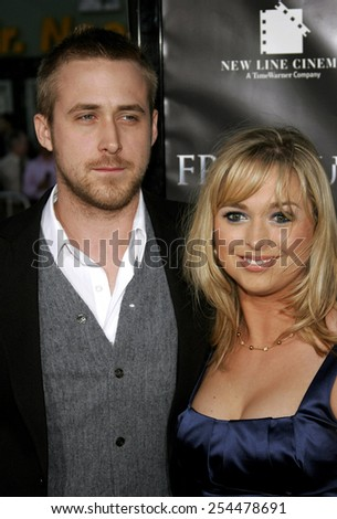"""Ryan Gosling and sister Mandi Gosling attend the Los Angeles Premiere of """"Fracture"""" held at the Mann Village Theater in Westwood, California on April 11, 2007.  - stock photo"""