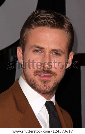 "Ryan Gosling at the ""Gangster Squad"" Los Angeles Premiere, Chinese Theater, Hollywood, CA 01-07-13 - stock photo"
