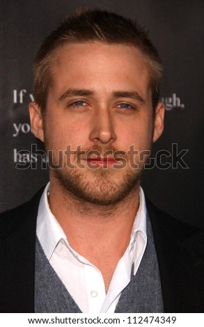 "Ryan Gosling at the Los Angeles premiere of ""Fracture"". Mann Village Theatre, Westwood, CA. 04-11-07 - stock photo"