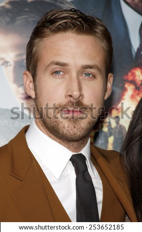 "Ryan Gosling at the Los Angeles premiere of ""Gangster Squad"" held at the Grauman's Chinese Theatre in Los Angeles, United States, 07-01-13.  - stock photo"