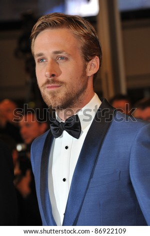 "Ryan Gosling at the premiere of his new movie ""Drive"" in competition at the 64th Festival de Cannes. May 20, 2011  Cannes, France Picture: Paul Smith / Featureflash - stock photo"