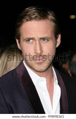 Ryan Gosling at the 16th Annual Critics' Choice Movie Awards Arrivals, Hollywood Palladium, Hollywood, CA. 01-14-11 - stock photo