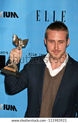 Ryan Gosling in the Press Room at the 2007 Film Independent's Spirit Awards. Santa Monica Pier, Santa Monica, CA. 02-24-07 - stock photo