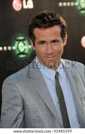 "Ryan Reynolds at the ""Green Lantern"" Los Angeles Premiere, Chinese Theater, Hollywood, CA. 06-15-11 - stock photo"