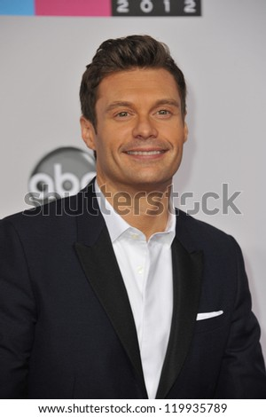 Ryan Seacrest at the 40th Anniversary American Music Awards at the Nokia Theatre LA Live. November 18, 2012  Los Angeles, CA Picture: Paul Smith / Featureflash