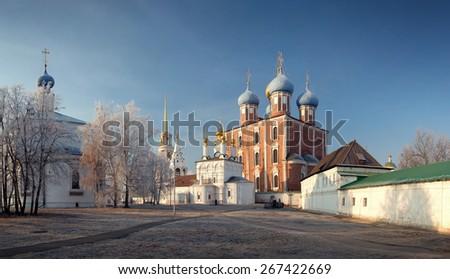 Ryazan Kremlin XII century, Ryazan, Russia - stock photo