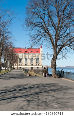 RYBINSK, RUSSIA - May 02: New building of cereal exchange on may 02, 2013 in Rybinsk, Russia. It was constructed in 1912 by Moscow architect A.V.Ivanov in 'Russian style'