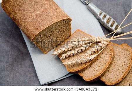 rye bread - stock photo