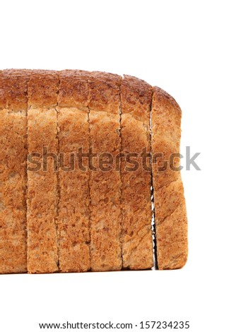 Rye bread isolated on a white background