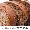 Rye bread macro - stock photo
