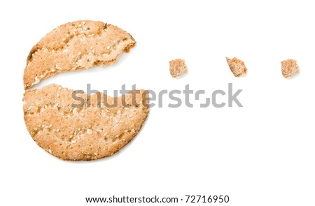 Rye crispbread isolated on a white background - stock photo