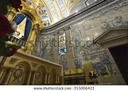 S. BENTO DA PORTA ABERTA, PORTUGAL � OCTOBER 18, 2015: Detail of the Apse of the Basilica of S. Bento da Porta Aberta, on October 18, 2015, in S. Bento da Porta Aberta, Portugal - stock photo