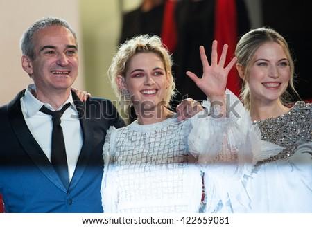 S Bouaziz, O. Assayas,  Kristen Stewart, Nora von Waldstaetten, A. Danielsen Lie,  'Personal Shopper' premiere at the 69th Festival de Cannes. May 17, 2016  Cannes, France - stock photo