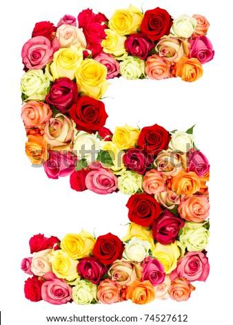 S Alphabet In Rose S Roses Flower ...