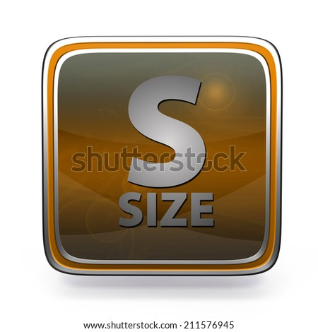 S size square icon on white background