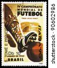 S.TOME E PRINCIPE - CIRCA 1989: A stamp printed in S.Tome E Principe shows football, circa 1989 - stock photo
