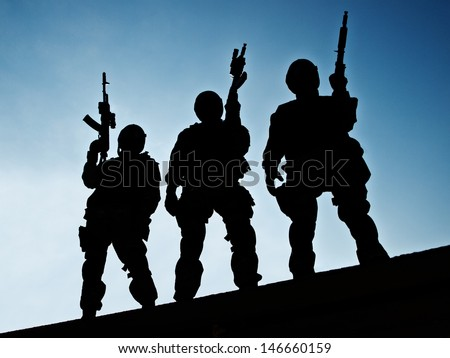S.W.A.T. team - stock photo