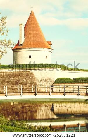 Saaremaa island, Estonia. Kuressaare castle - stock photo
