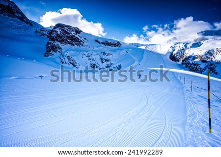 Saas Fee, the pearl of the Alps - stock photo