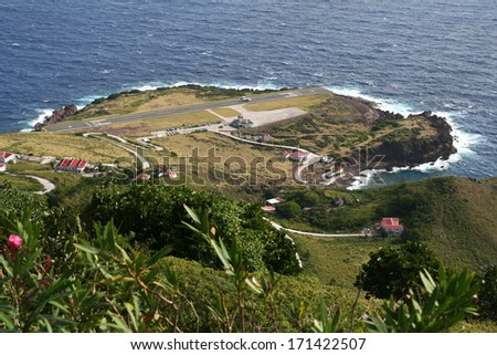 Saba Island, with Airport