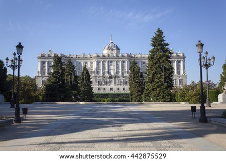 Sabatini Gardens, Royal Palace, Madrid - stock photo
