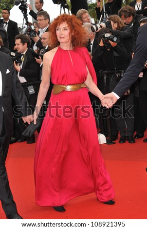"Sabine Azema at the gala screening for the French movie ""You Ain't Seen Nothing Yet"" in competition at the 65th Festival de Cannes. May 21, 2012  Cannes, France Picture: Paul Smith / Featureflash"
