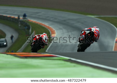 SACHSENRING - GERMANY, JULY 17: Italian Ducati rider Danilo Pedrucci at 2016 Gopro MotoGP of Germany at Sachsenring circuit on July 17, 2016