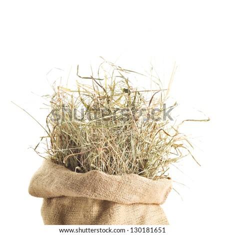 Sack Of Hay - stock photo