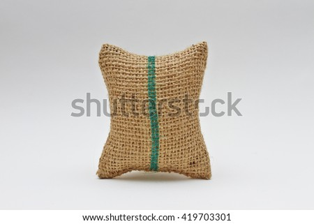 Sack on white background.