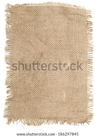 sackcloth material isolated on white - stock photo