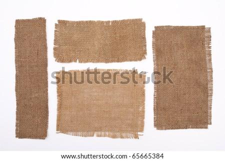 Sackcloth materials - stock photo