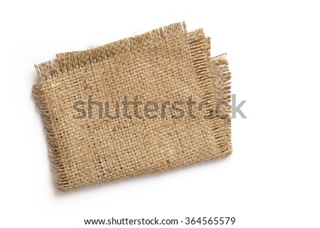 Sackcloth on a white background
